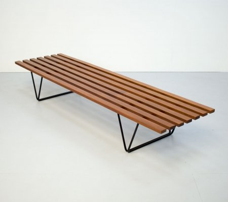 1950s Slatted Bench by Robin Day for Hille, 1950s