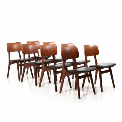 Set of 8 Mid Century High Quality Ib Kofod-Larsen Teak Dining Chairs, 1950s