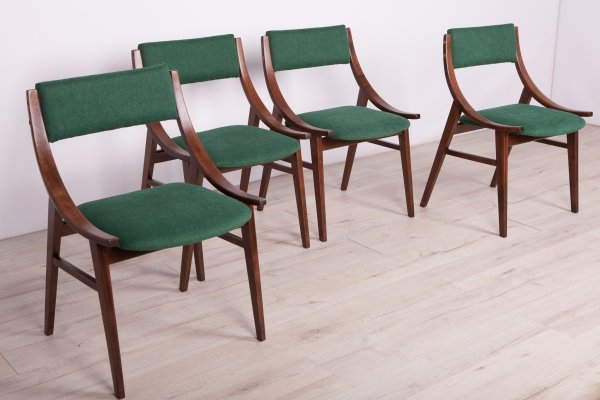 Set of 4 Polish Ski Jumper Chairs from Zamojska Furniture Factory, 1970s