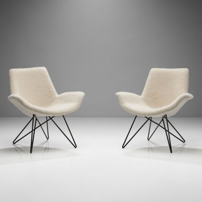 Pair of Mid-Century Modern Lounge Chairs, Europe 1950s