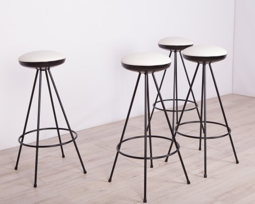 Set of 4 Space Age Bar Stools, 1950s