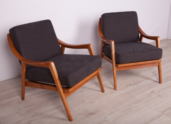 Pair of Mid Century Swedish Armchairs, 1960s
