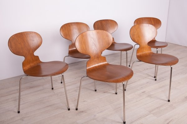 Set of 6 Ant Dining Chairs by Arne Jacobsen for Fritz Hansen, 1960s
