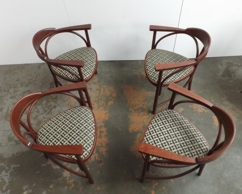 Set of 4 Thonet model 81 dining chairs, 1980s