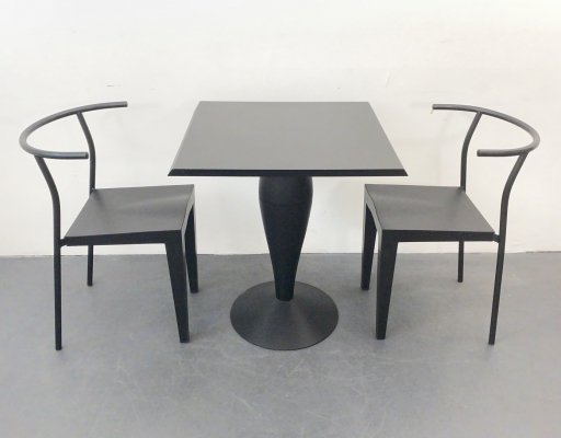 2 chairs & table by Philippe Starck for Kartell, Italy 1980s