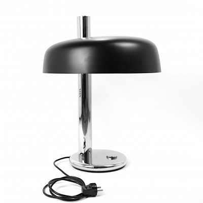 Mid-Century Black & Chrome Table Lamp by Egon Hillebrand, 1960s