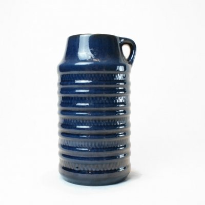 Dark blue Carstens floor Vase, W. Germany 1970s