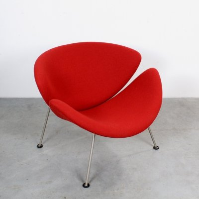Early Stone red Orange Slice lounge chair by Pierre Paulin, 1960s