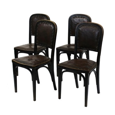 Set of 4 side chairs by Gustav Siegel