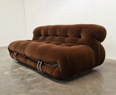 Soriana 2 seater sofa by Afra & Tobia Scarpa for Cassina, 1970s