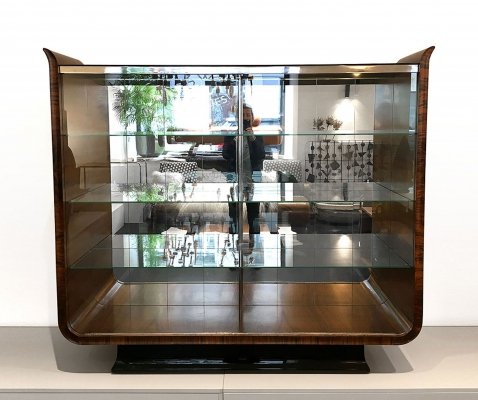 Tulip Art Deco Glass Display Cabinet by Jindrich Halabala, 1930