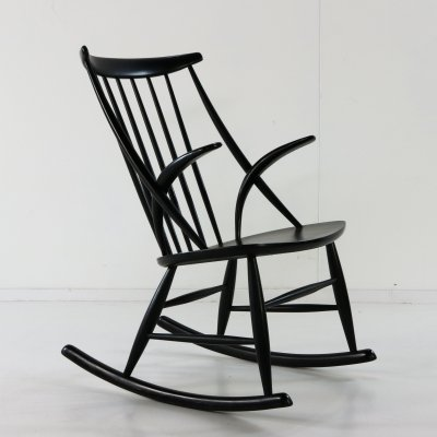 IW3 rocking chair by Illum Wikkelsø for Niels Eilersen, 1950s