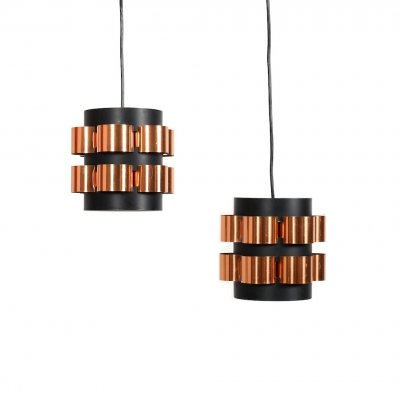 Pair of Mid Century Hanging Lamps by Werner Schou