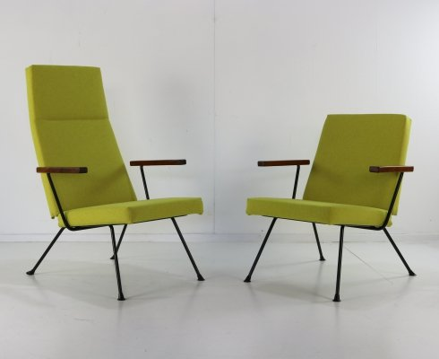 Pair of 1409 & 1410 lounge chairs by André Cordemeyer for Gispen, 1960s