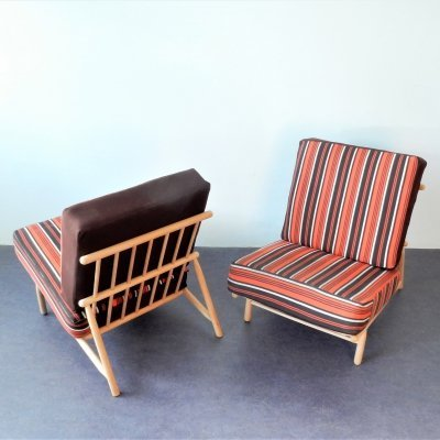 2 x Model 12 lounge chair by Alf Svensson for Dux, Sweden 1950s