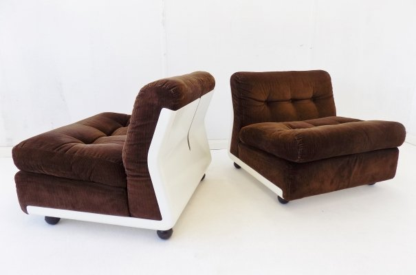 Pair of Amanta lounge chairs by Mario Bellini for C & B Italia, 1970s