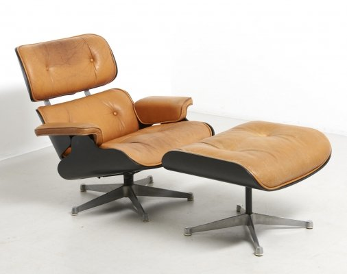 Lounge Chair with Ottoman by Charles & Ray Eames for Herman Miller, USA 1950s