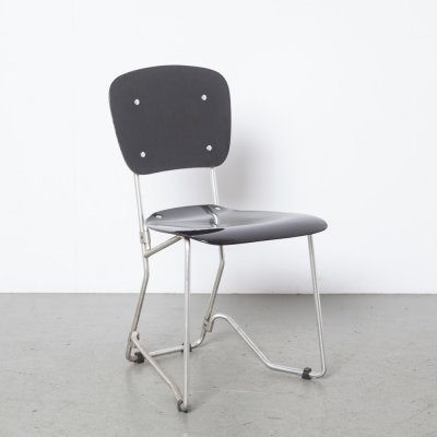 Black Aluflex chair by Armin Wirth for Ph Zieringer KG, 1950s