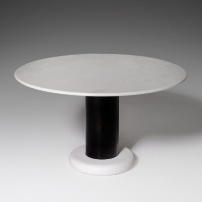Ettore Sottsass 'Loto Rosso' round Marble Table for Poltronova, Italy 1965