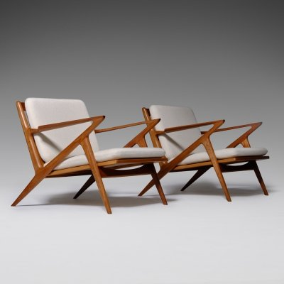 Z-Chairs by Poul Jensen for Selig, Denmark 1960's