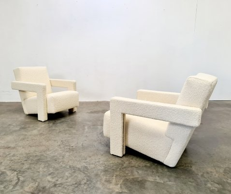 Set of 2 Utrecht chairs by Gerrit Rietveld for Cassina, 1990s