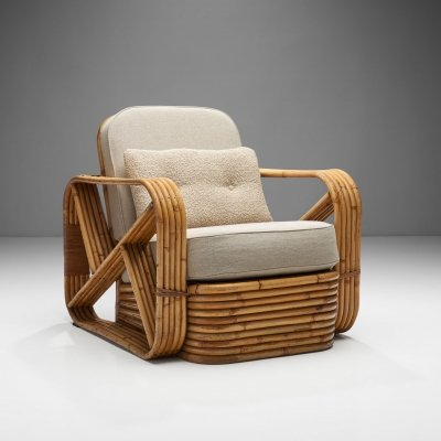 Rattan Lounge Chair by Paul Frankl, United States 1940s
