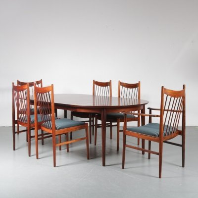 Luxurious Dining set by Arne Vodder for Sibast, Denmark 1960