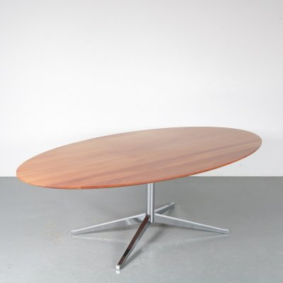 Oval Dining Table by Florence Knoll for Knoll International, USA 1970