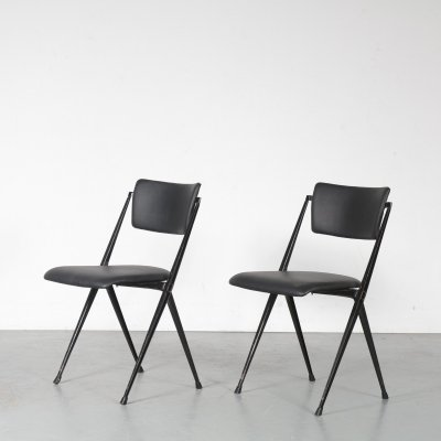 Pyramid stacking chair by Wim Rietveld for Ahrend de Cirkel, Netherlands 1950s