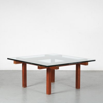 1950s Square coffee table by Alfred Hendrickx, Belgium