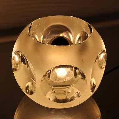 Ice glass Table lamp by Peill & Putzler, Germany 1960's