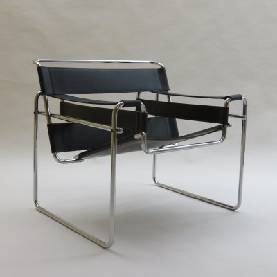 1960s Wassily B3 Chair by Marcel Breuer for Gavina