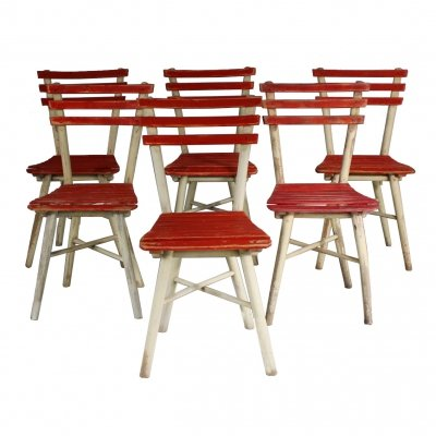 Set of 6 Garden Chairs from TON, 1950s