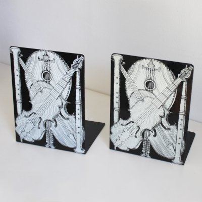 Vintage pair of bookends 'Strumenti Musicali' by Piero Fornasetti Milano, Italy 1950-1960