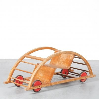 1950s 'Schaukelwagen' by Hans Brockhage & Erwin Andrä for Siegfried Lenz, Germany