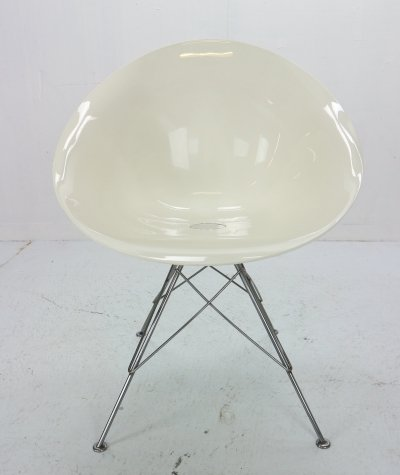 9 x Philippe Starck for Kartell White Lucite 'Eros' Italian Chair, 1980s