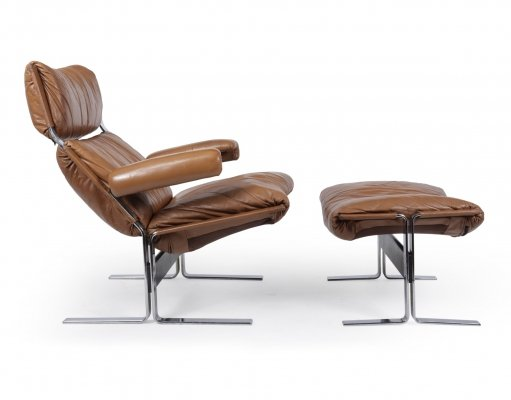 Mid Century Chair & footstool by Richard Hersberger for Blico
