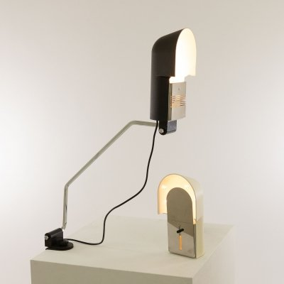 Set of Pala Black & Cream Table lamps by Corrado & Luigi Aroldi for Luci