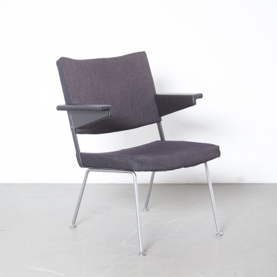 Dark grey-brown Model 1445 chair by André Cordemeyer for Gispen, 1960s