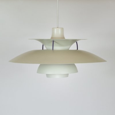 White PH5 Pendant Light by Poul Henningsen for Louis Poulsen, Denmark