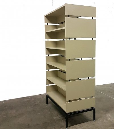 Double sided modular roomdivider bookcase, 1970s