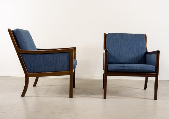 Set of 2 armchairs by Ole Wanscher for P. Jeppensen, 1960s