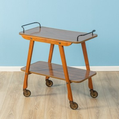Beech wood serving trolley, Germany 1950s