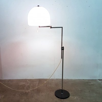 Space age adjustable swing arm floor lamp by Kaiser leuchten, Germany 1960s