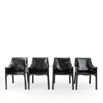 Set of 4 Cab 413 Armchairs by Mario Bellini