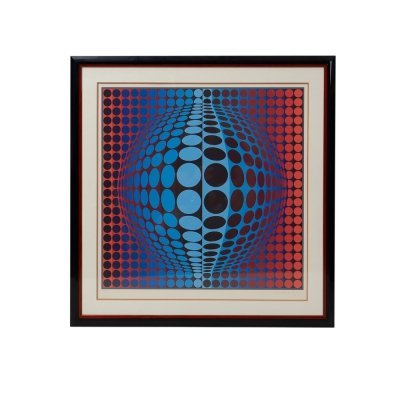Silkscreen Print by Victor Vasarely, 1970s
