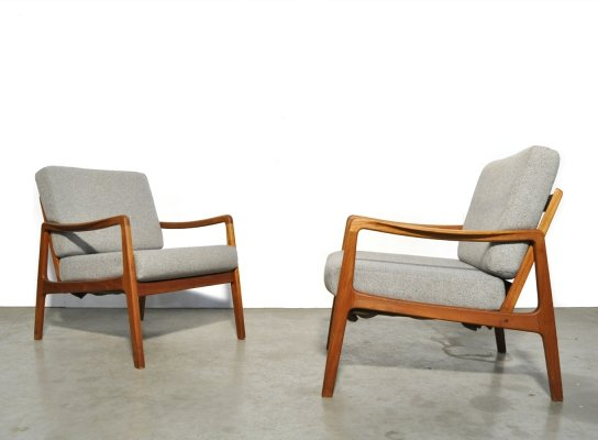 Teak easy chairs FD109 by Ole Wanscher for France & Son, Denmark 1960s