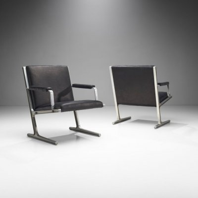 Pair of 'Lufthavns Stole' Chairs by Ditte Heath & Adrian Heath for Cado, Denmark 1969