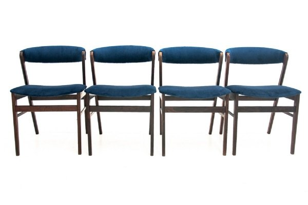 Set of 4 Kai Kristiansen 'Fire' chairs, Danish design 1960s