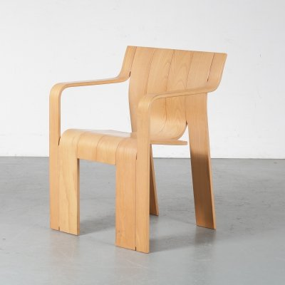 'Strip' dining chair by Gijs Bakker for Castelijn, Netherlands 1970s